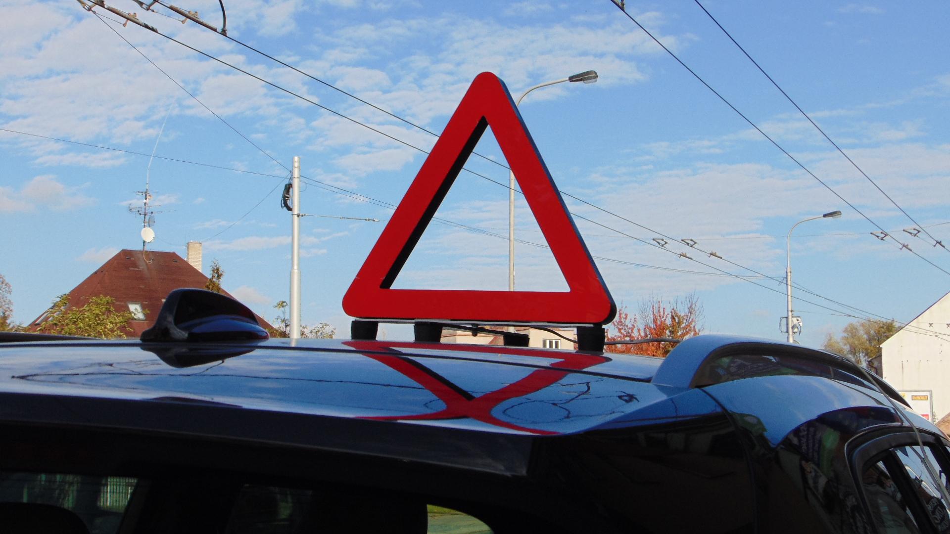 Výstražný trojúhelník od LEDtext
